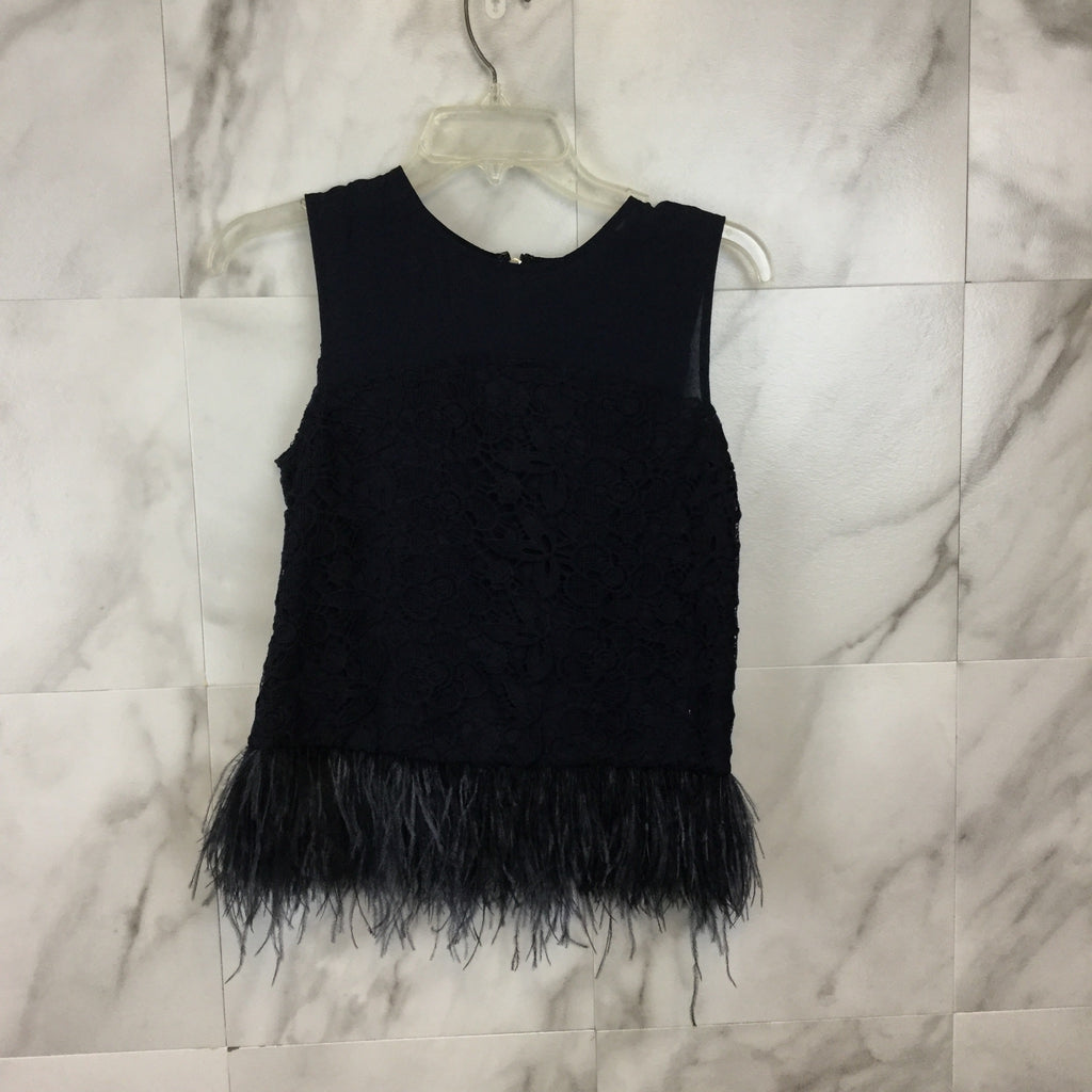 Anthropologie Greylin Feather Fringe Top - Size XS