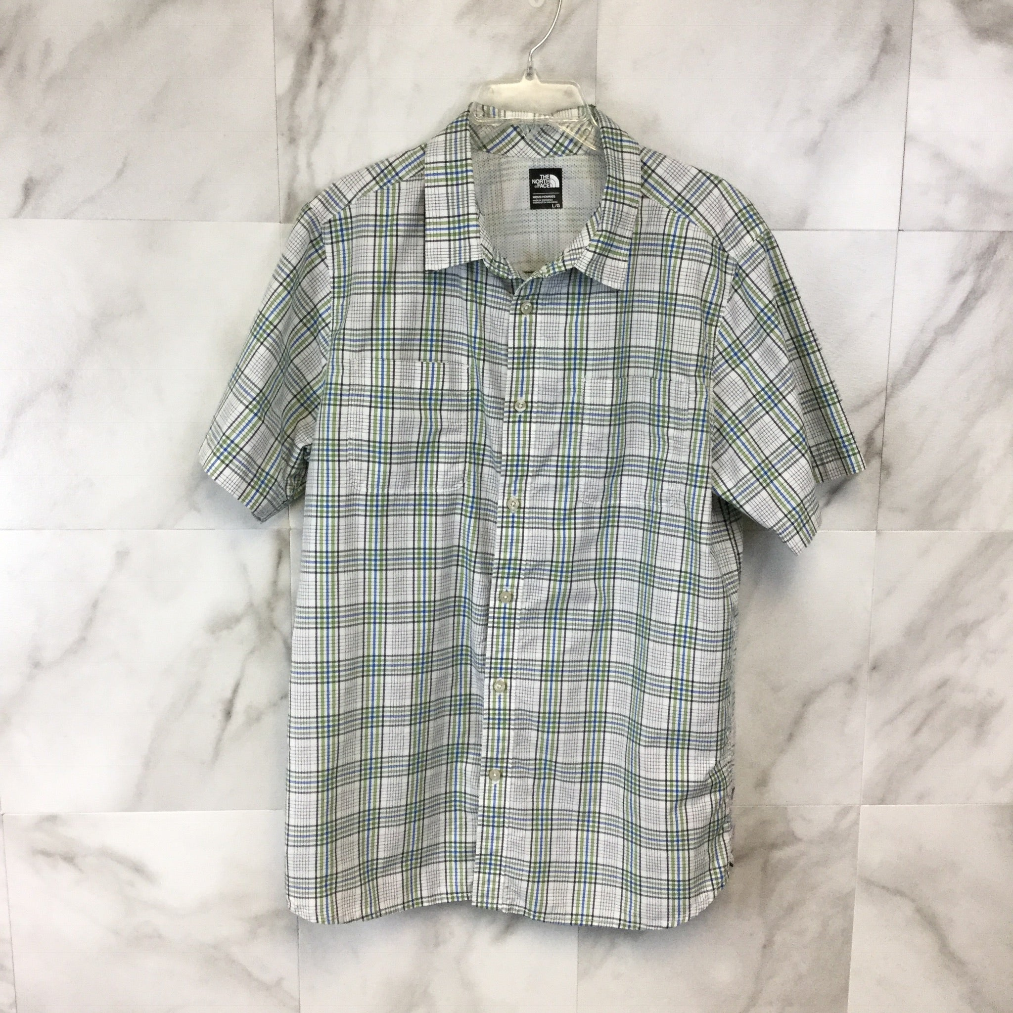 Men's The North Face Plaid Button-Down Shirt size Large