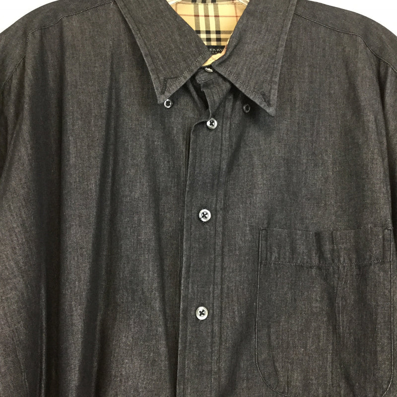 Men's Burberry London Heather Black Dress Shirt size XLT