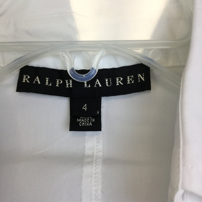 Ralph Lauren Hilda Cotton-Poplin Shirt Dress - size 4