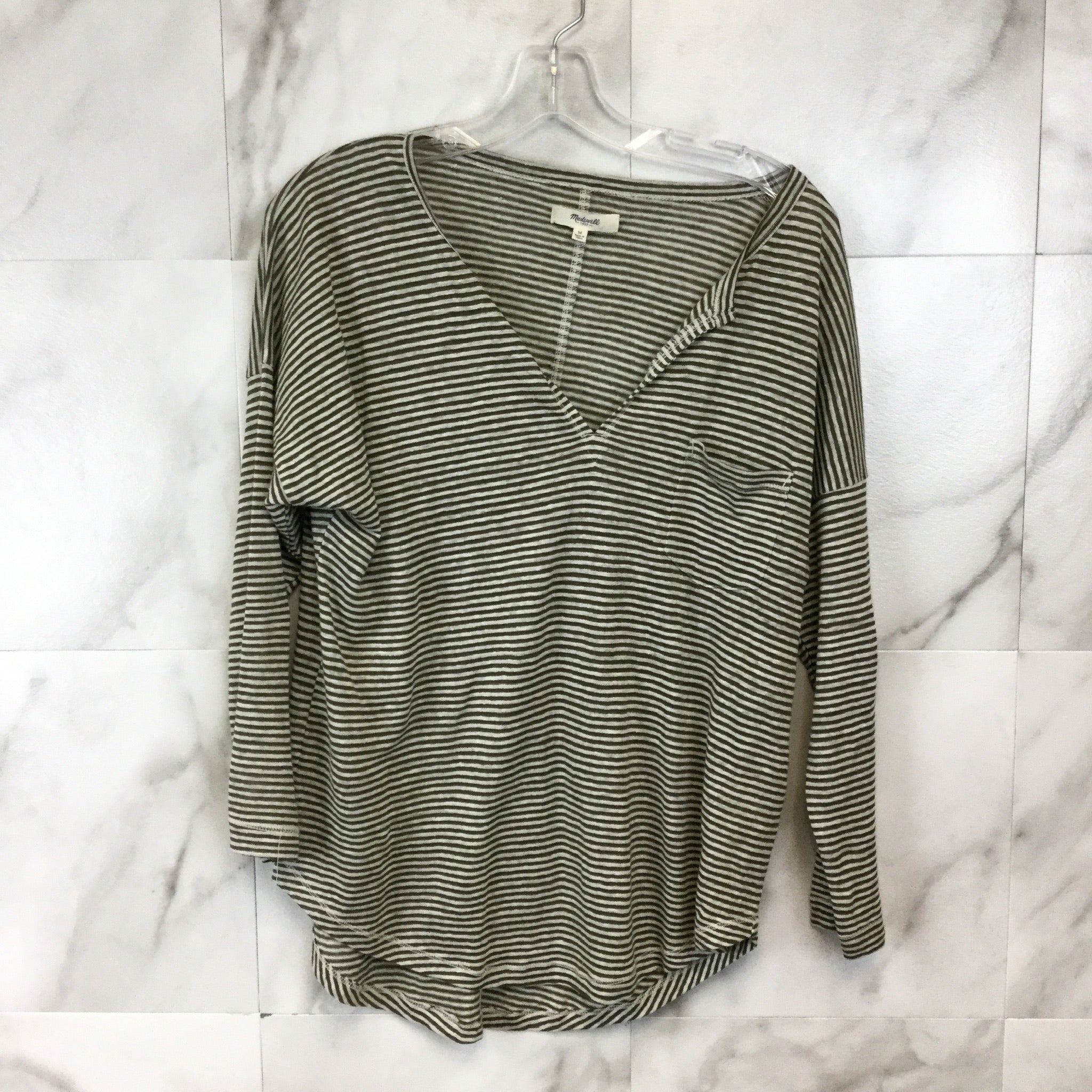Madewell Linen Frocket Tee - Size M