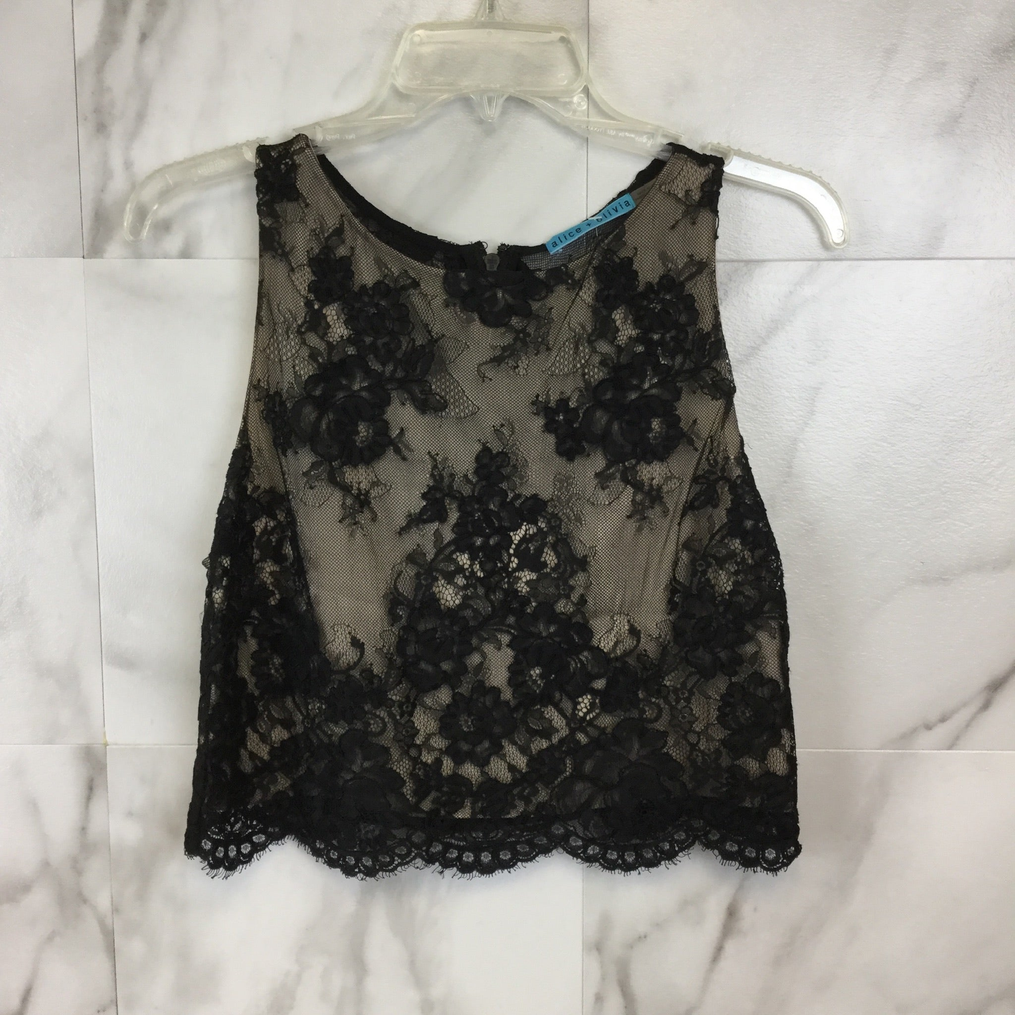 Alice + Olivia Lace Crop Top - Size S