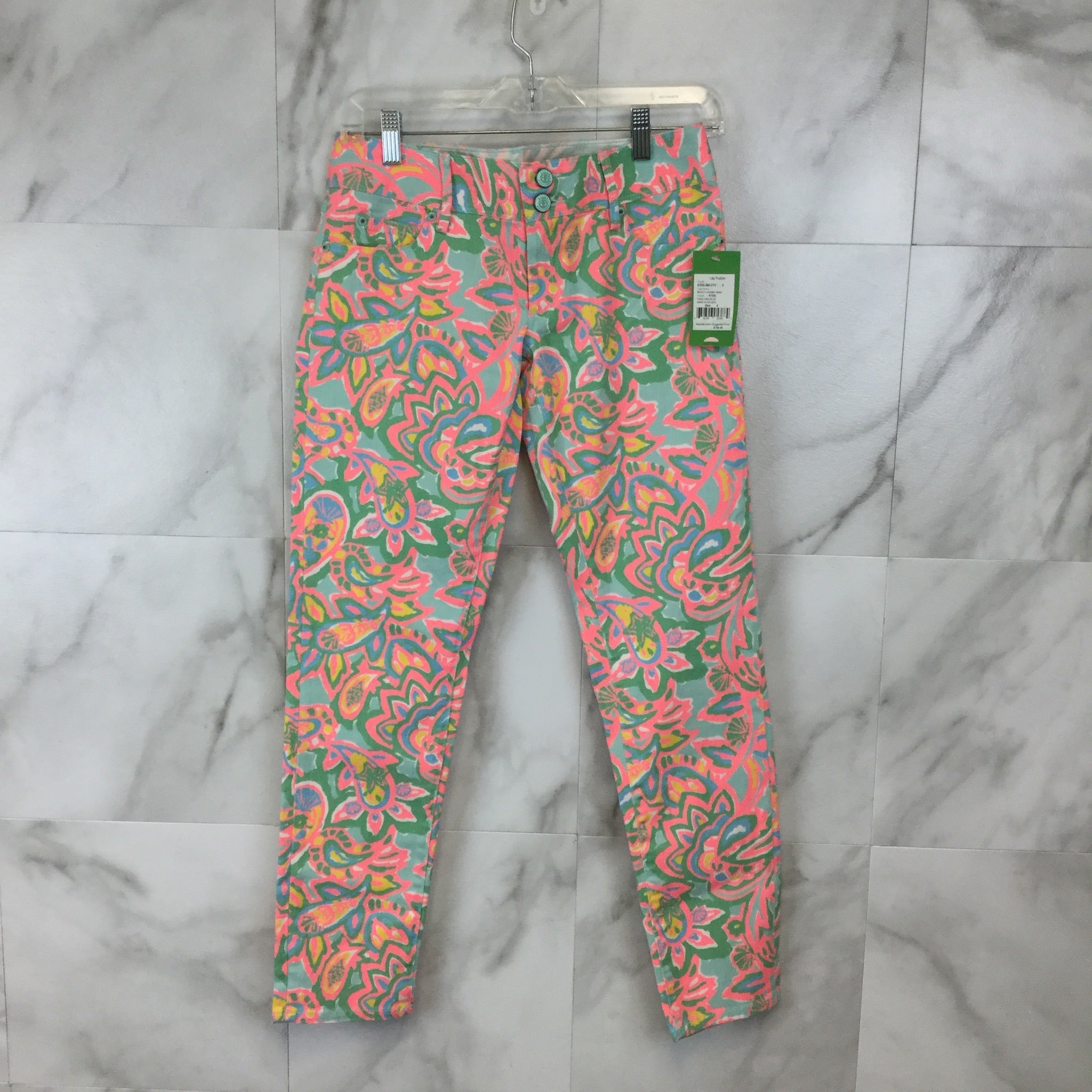 New! Lilly Pulitzer Worth Skinny Mini Jeans - Size 0