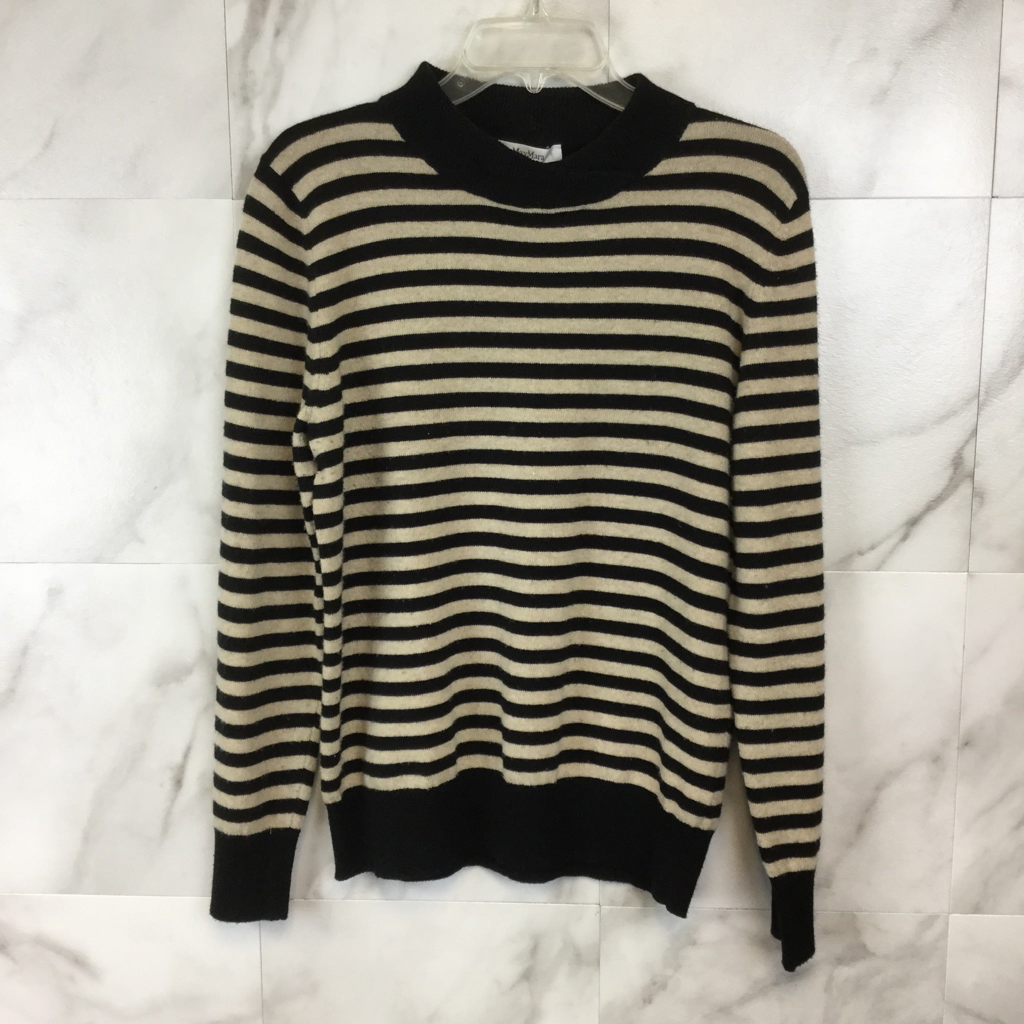 MaxMara Striped Wool & Cashmere Sweater - Size XL