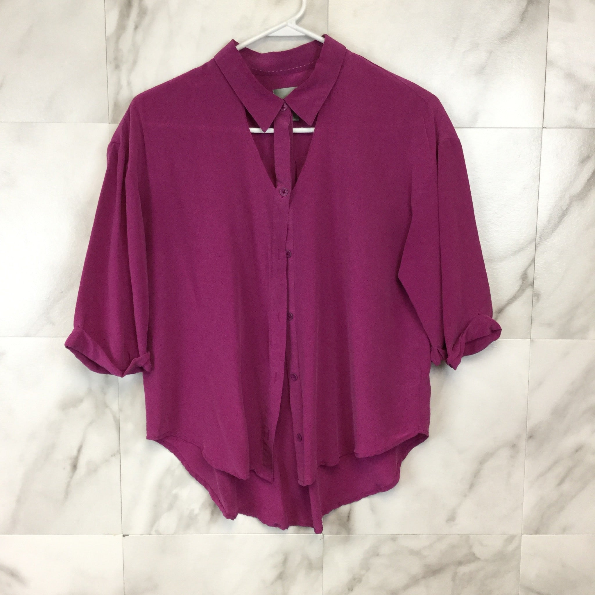Anthropologie Maeve Mairead Silk Blouse - Size S