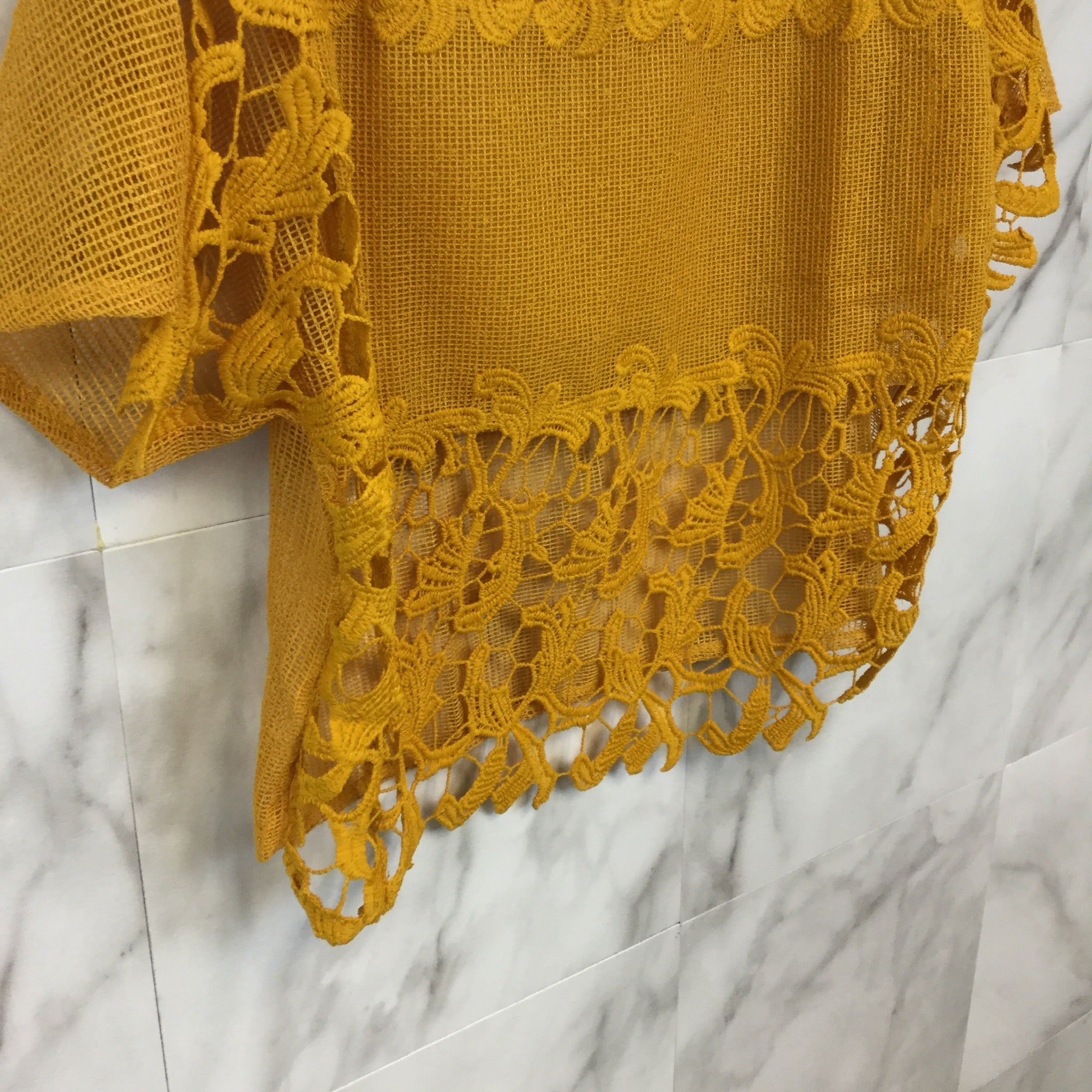 Zara Trafaluc Floral Lace Top - Size S