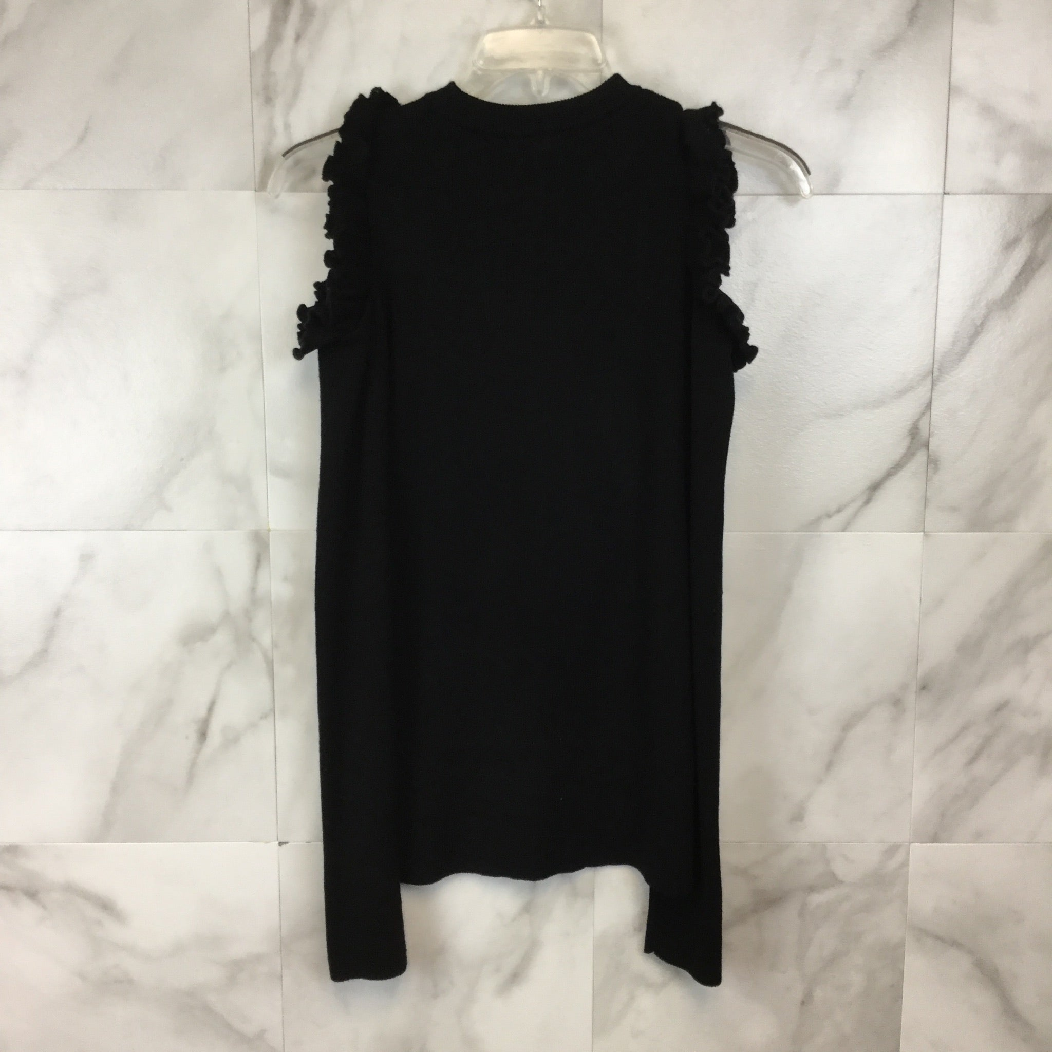 Saks Fifth Avenue Ruffle Cold Shoulder Sweater - Size S