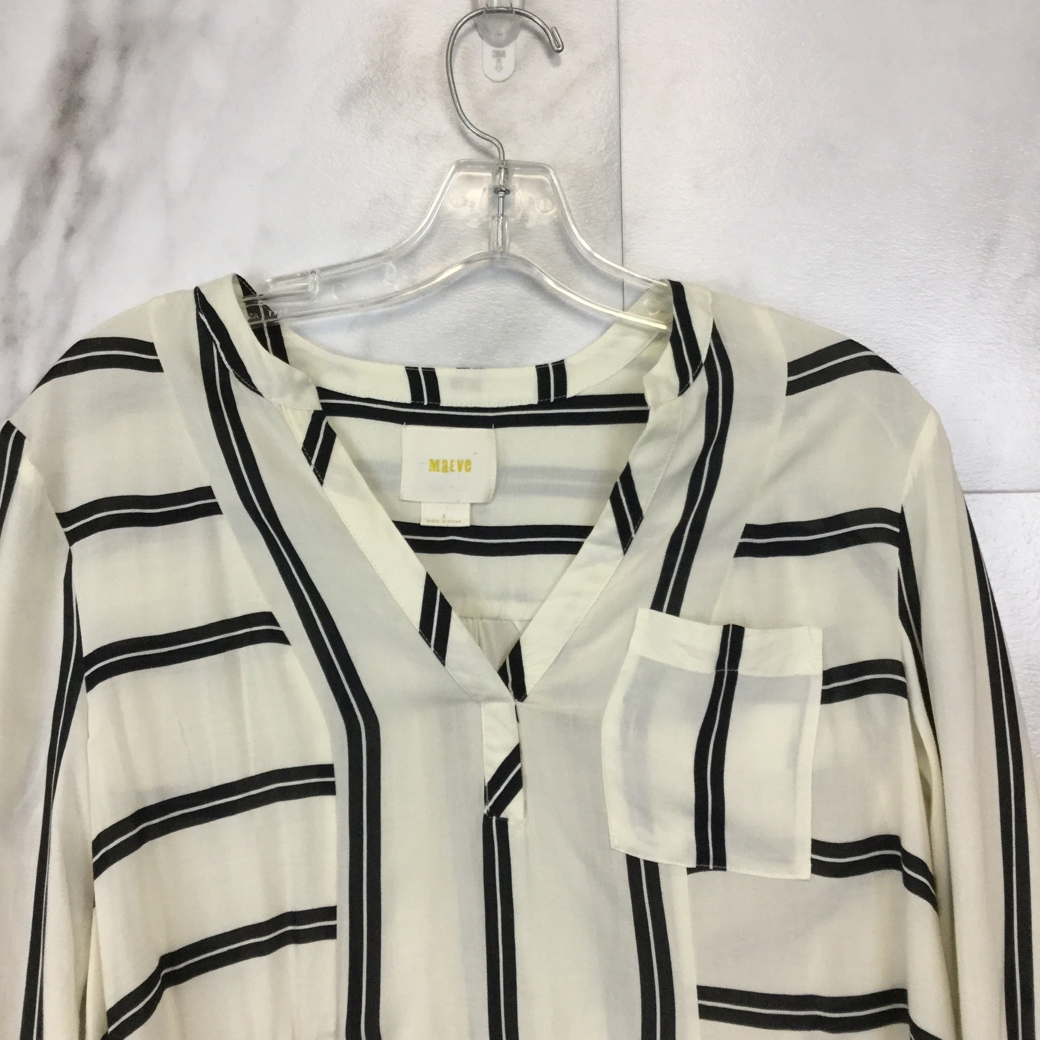 Anthropologie Maeve Laiken Henley Top - Size 2
