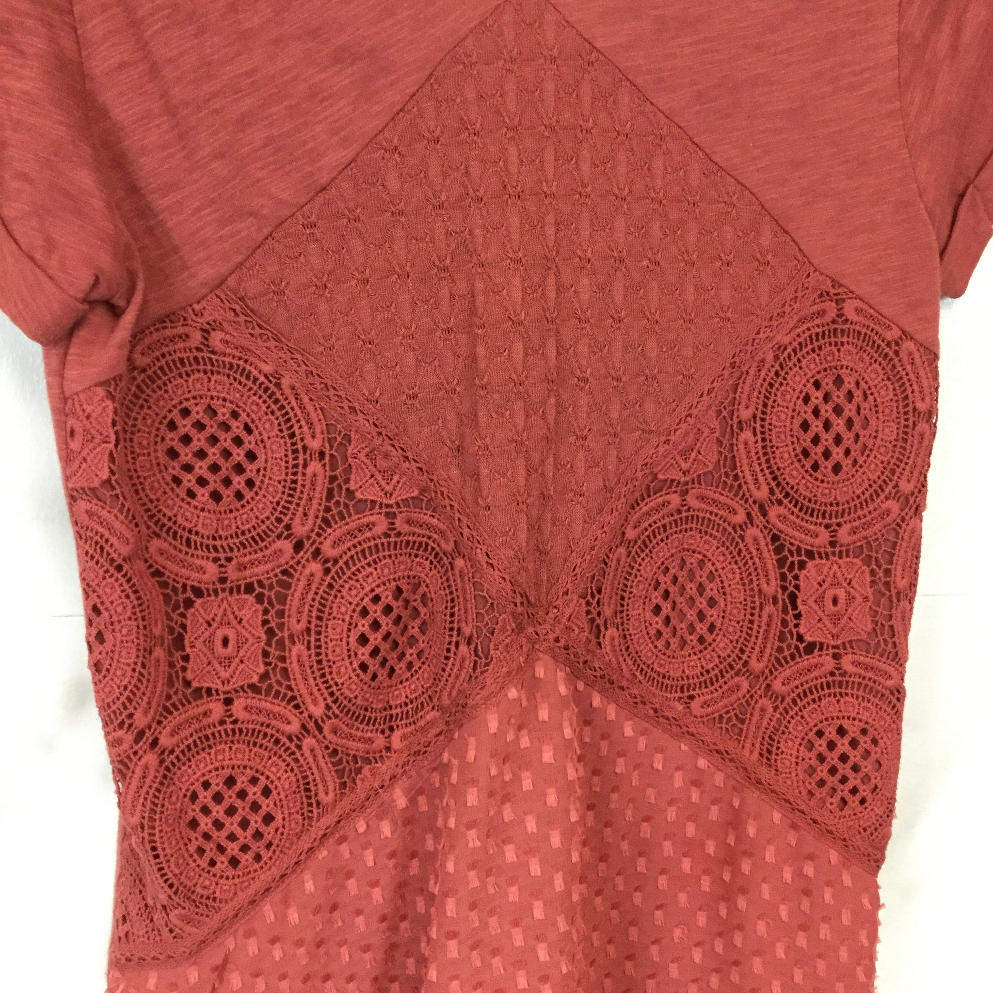 Anthropologie Meadow Rue Patchwork Lace Tee - Size S