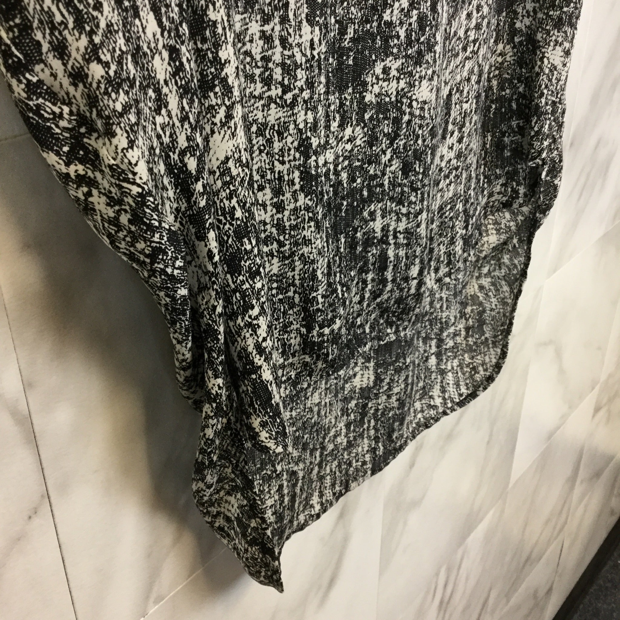 Vince Abstract Printed Silk Tunic - Size XS