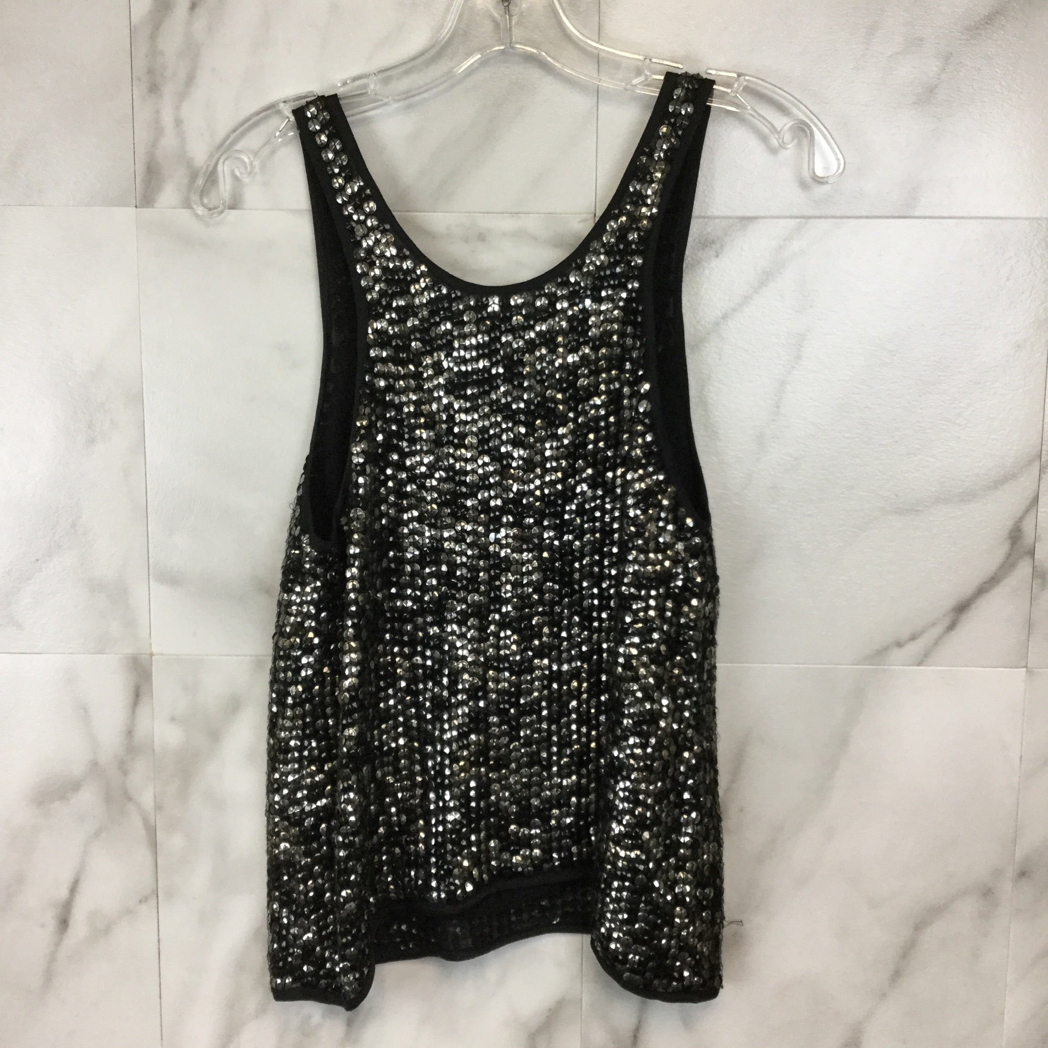 Milly Sequin Tank Top - Size 0