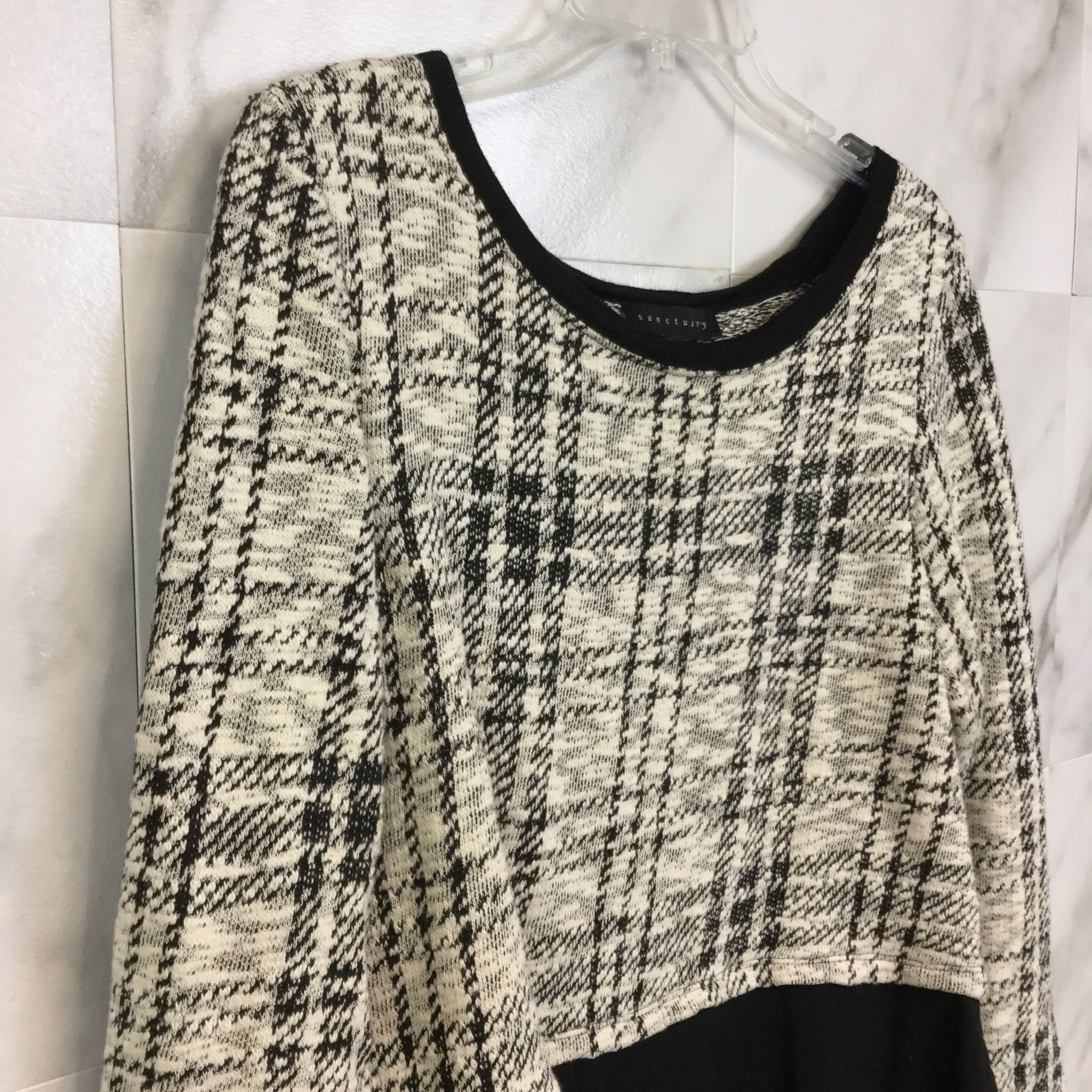 Sanctuary Layered-Look Sweater - Size M