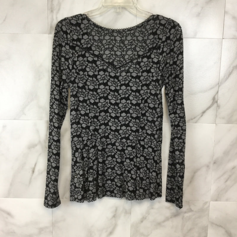 Free People Floral Lace Peplum Top - Size M