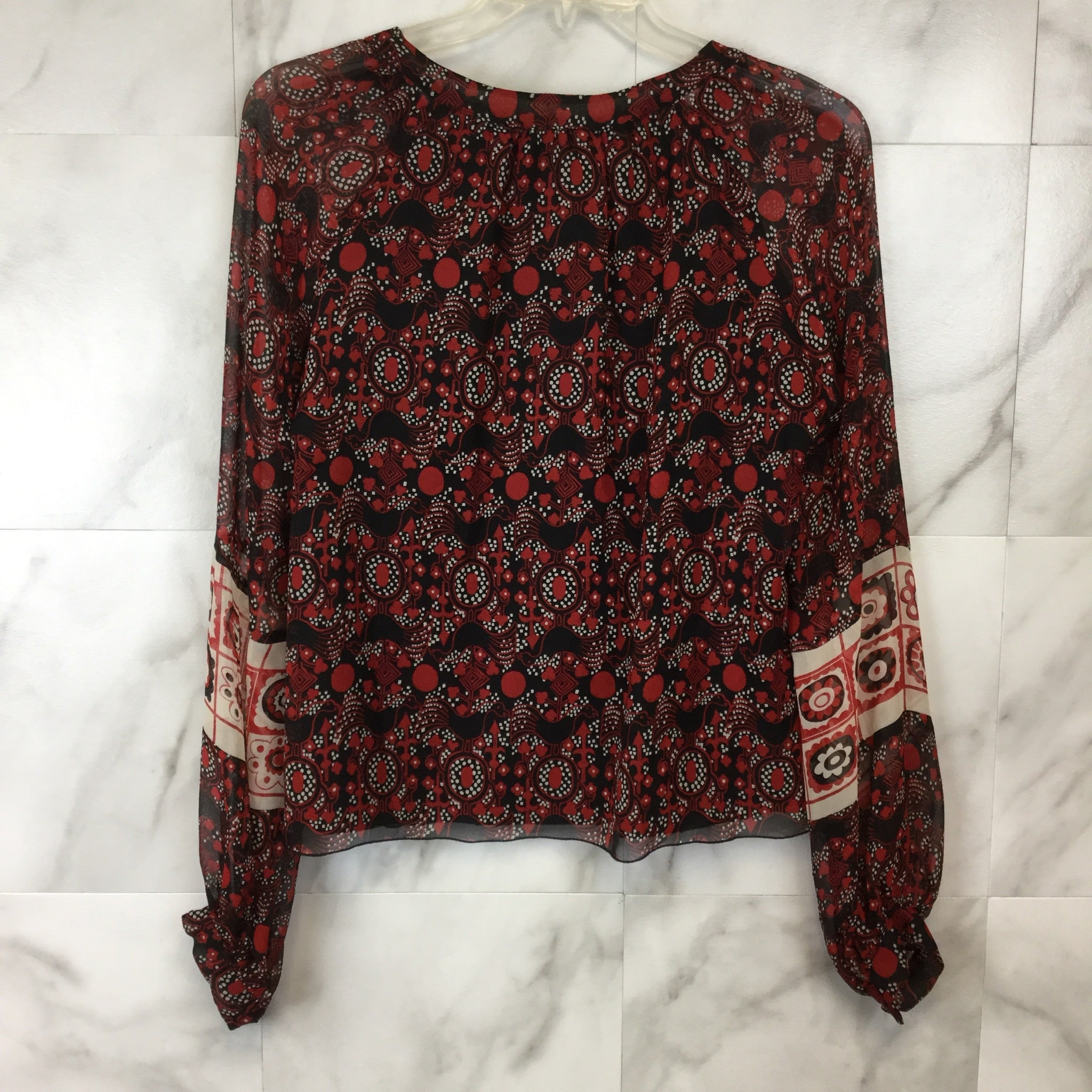 Anna Sui Patterned Silk Blouse - 8