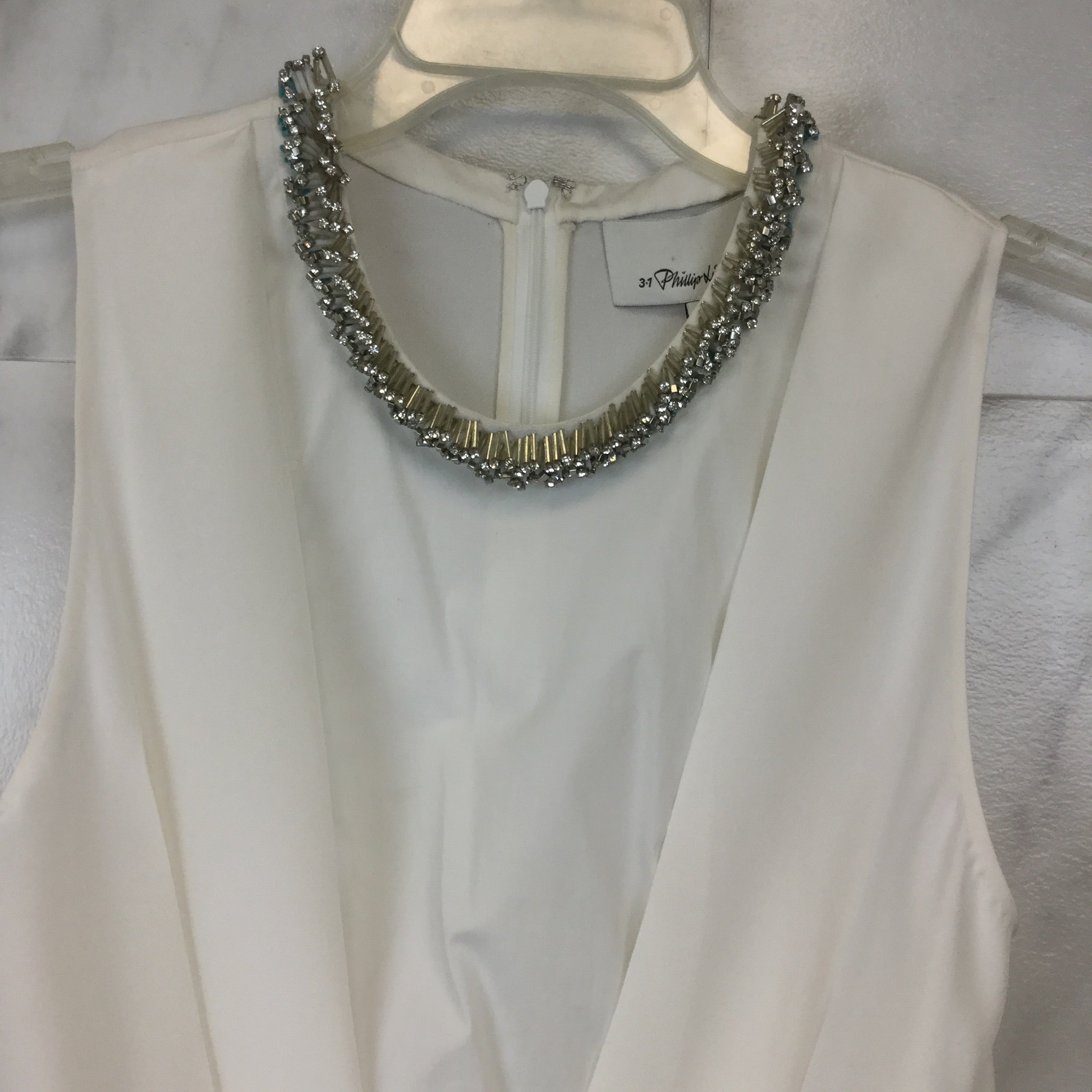3.1 Phillip Lim Embellish Silk and Stretch-Cotton Top - size 4