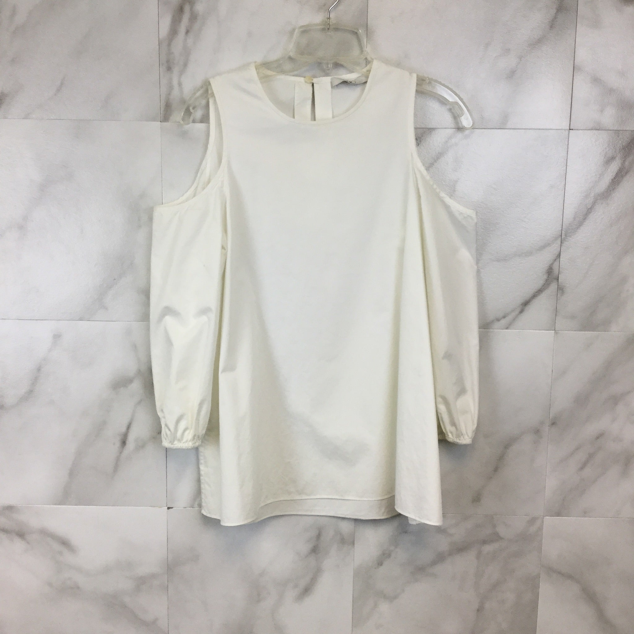 Tibi Satin Poplin Cold Shoulder Top - Size 6