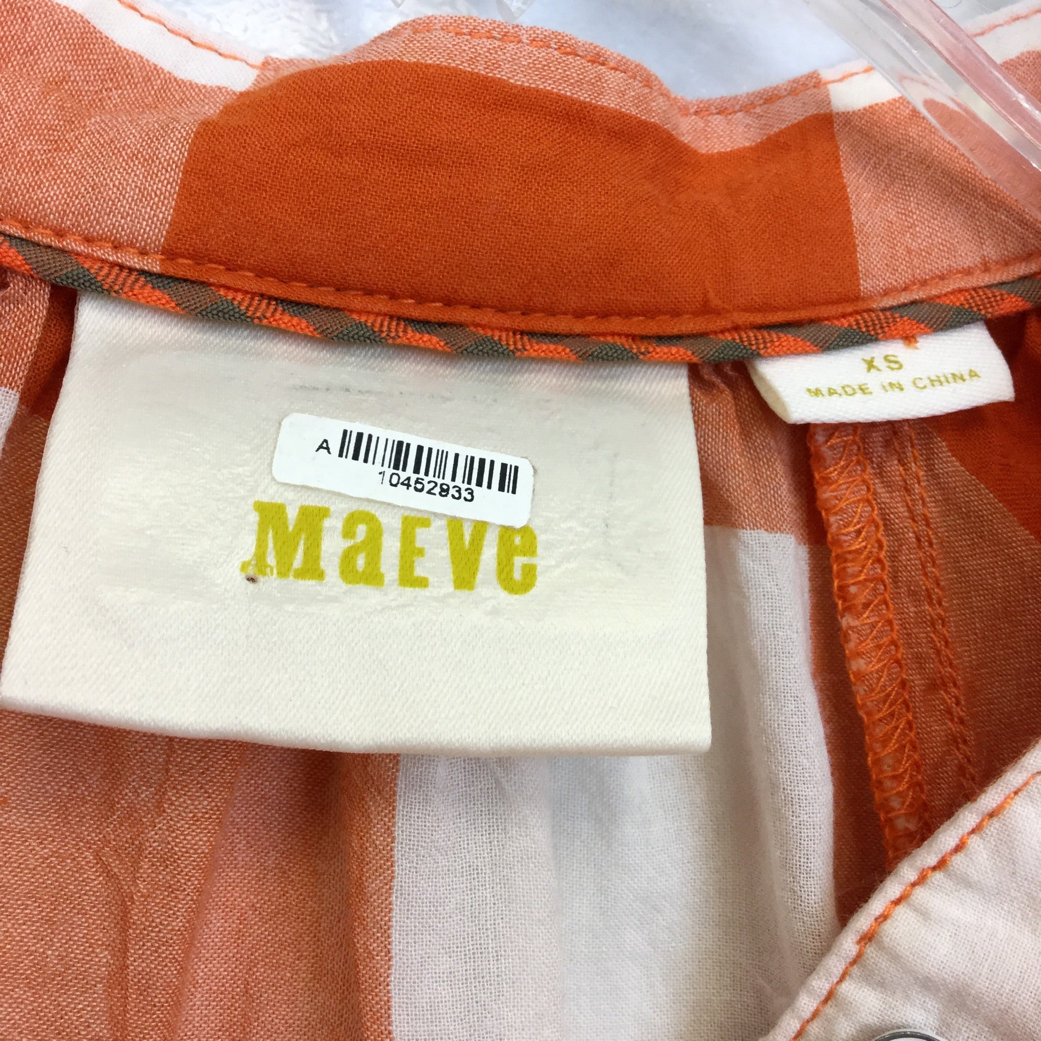 Anthropologie Maeve Gingham Check Blouse - XS