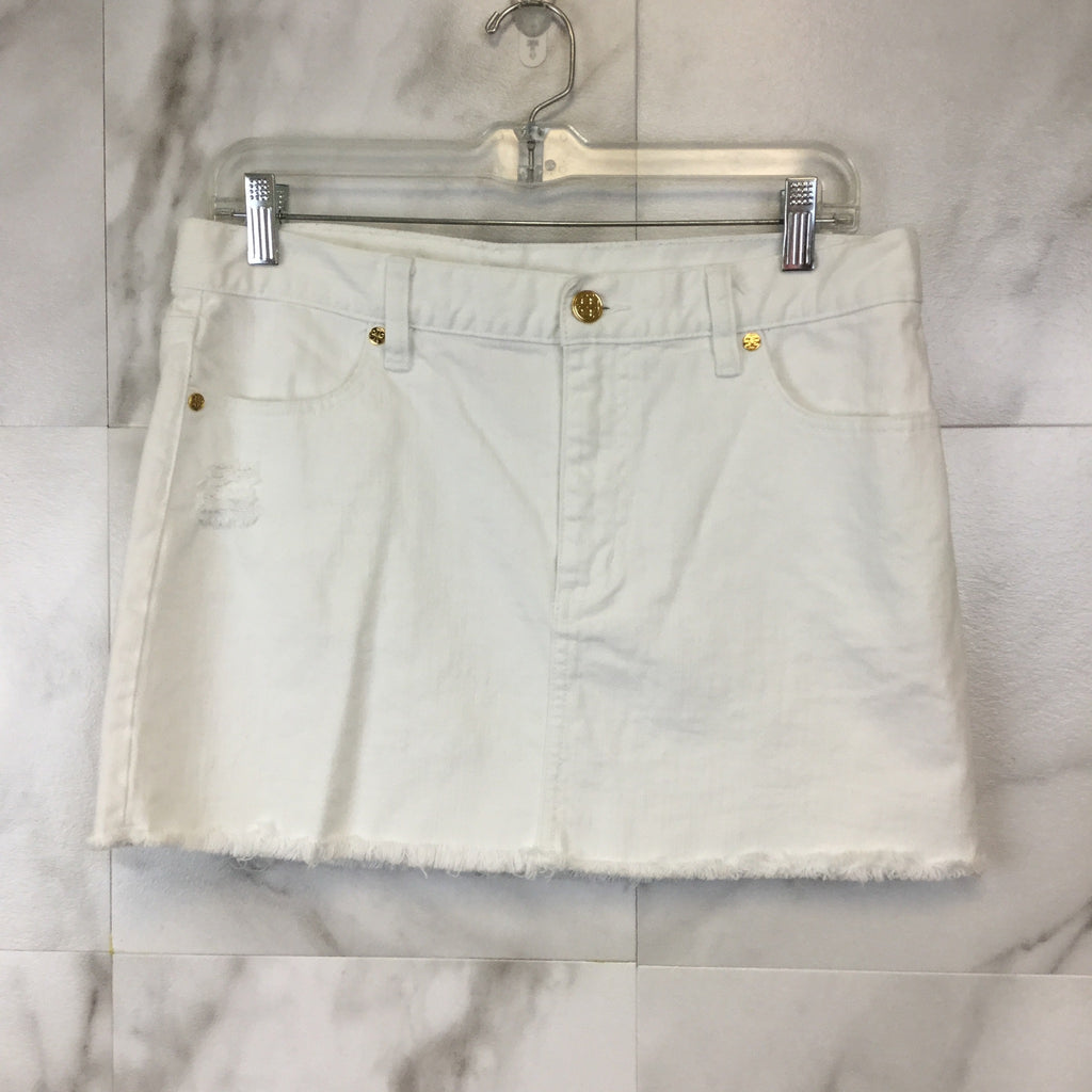 Tory Burch Cut Off Mini Skirt - size 30
