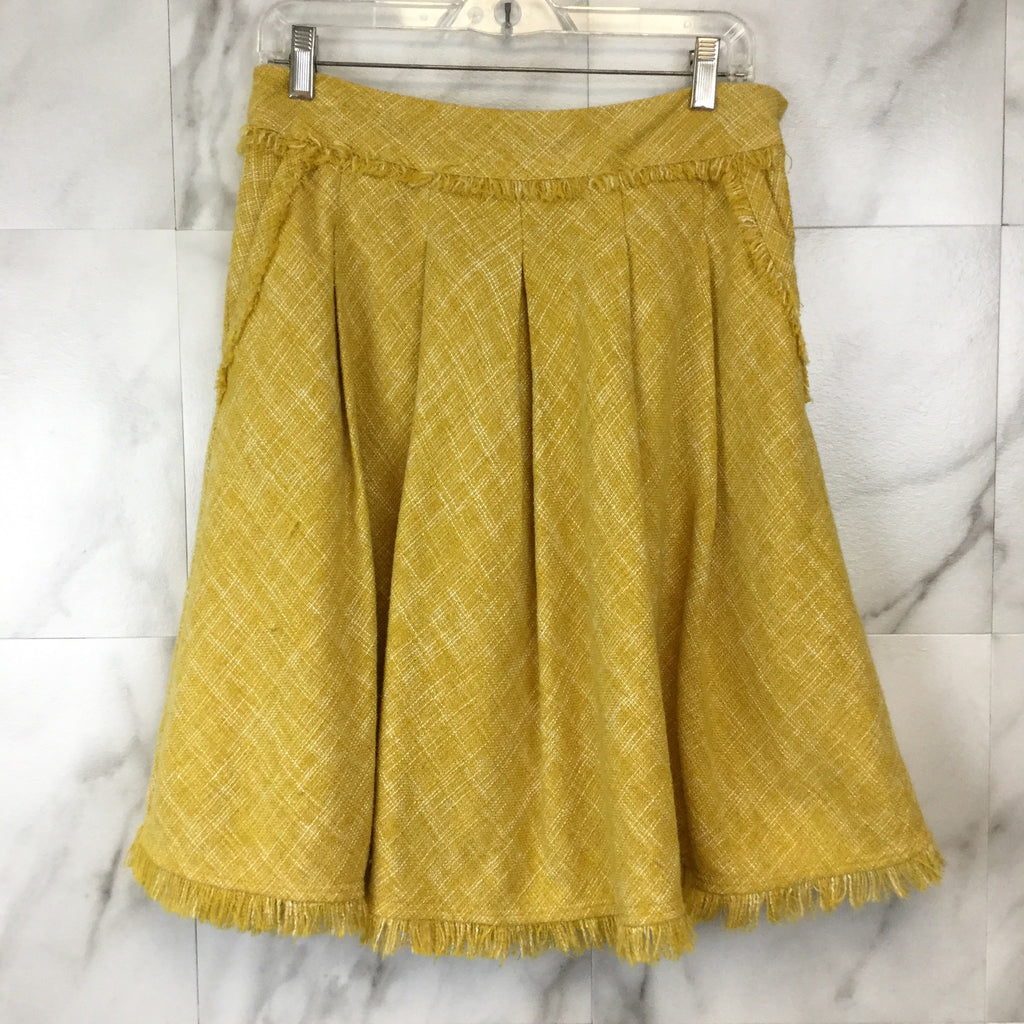 Anthropologie Maeve Buttered Tweed Skirt - size 4