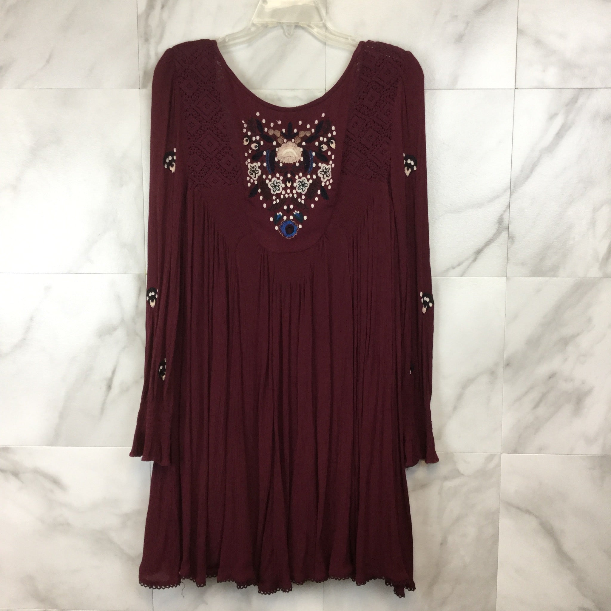 Free People Embroidered Mini Dress - size M