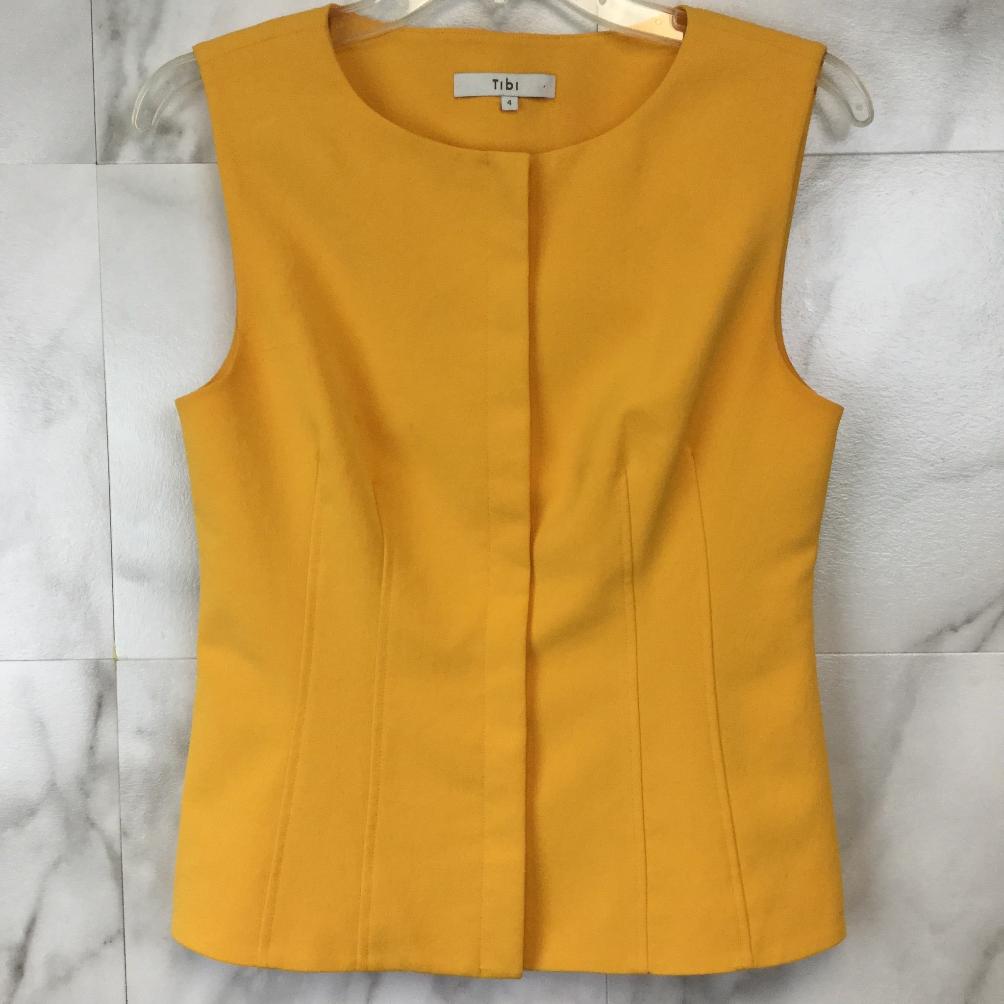 Tibi Drape Twill Sleeveless Corset Top - size 4