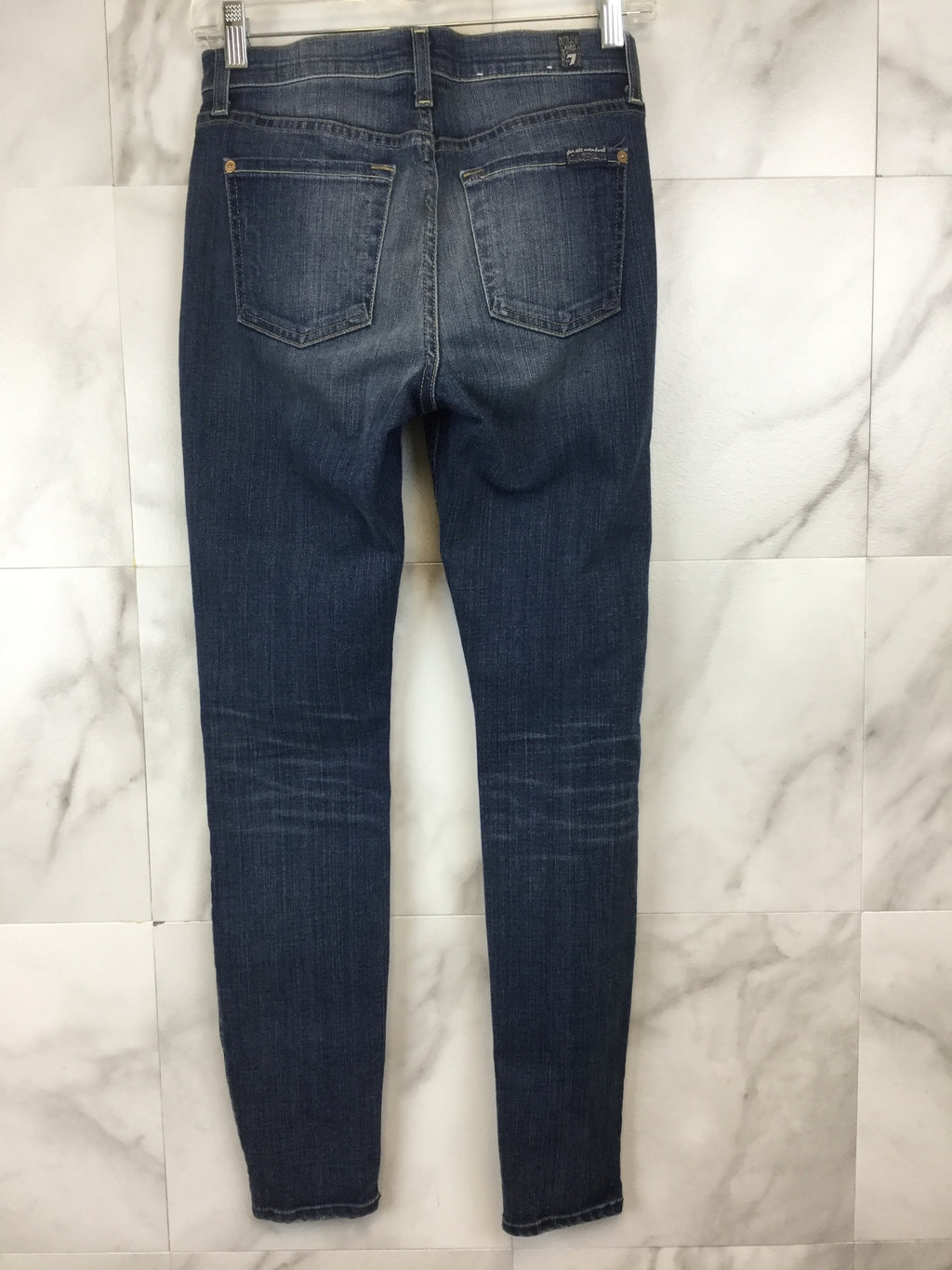 7 For All Mankind The Knee Hole Ankle Skinny - size 25