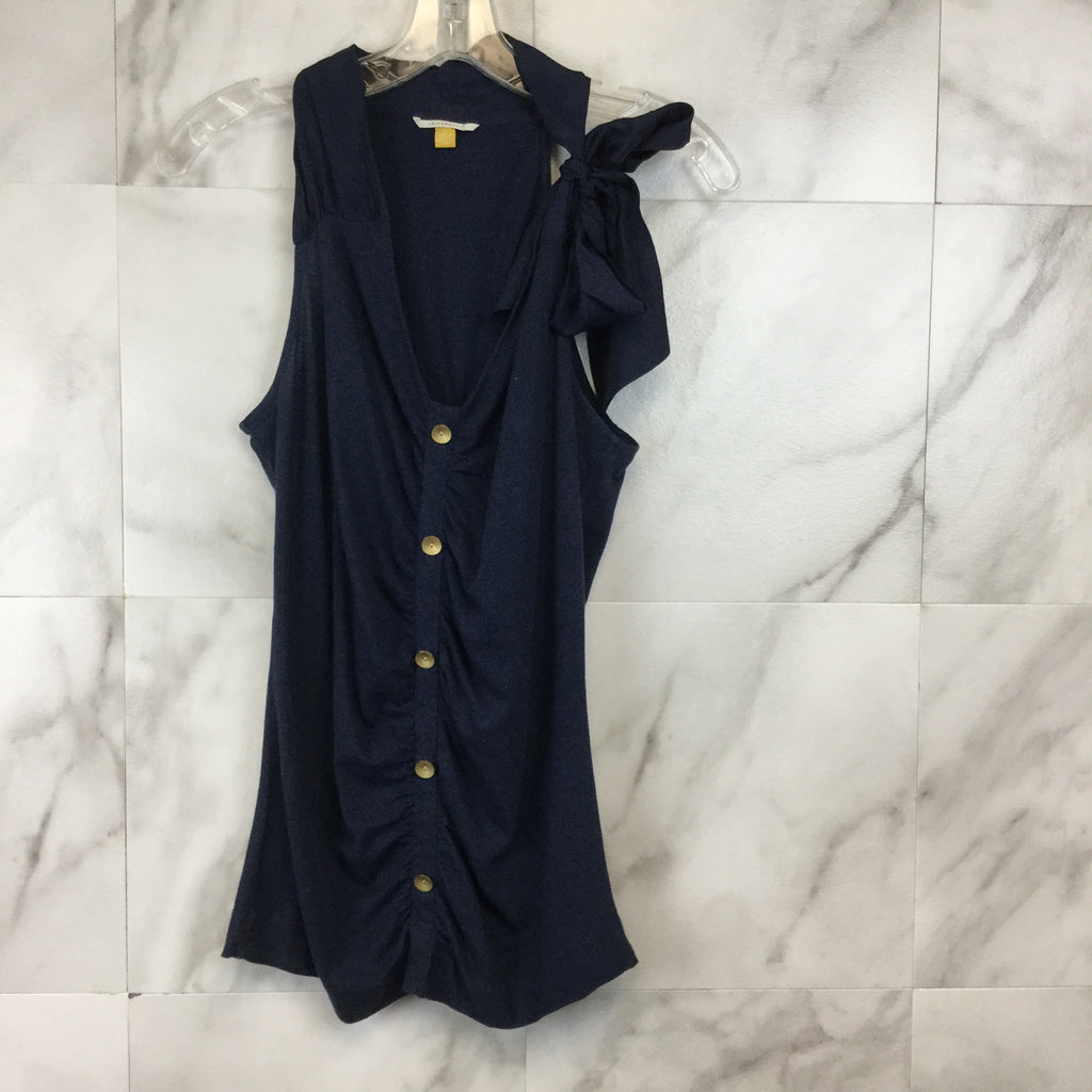 Anthropologie LeifsDottir Navy Tank with Bow Tie- S