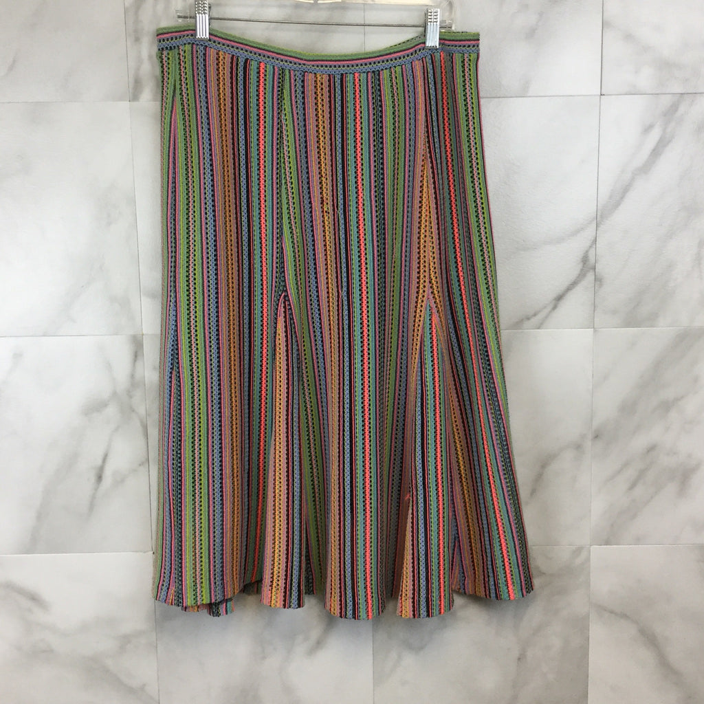 Anthropologie Maeve Spectral Stripe Skirt - L