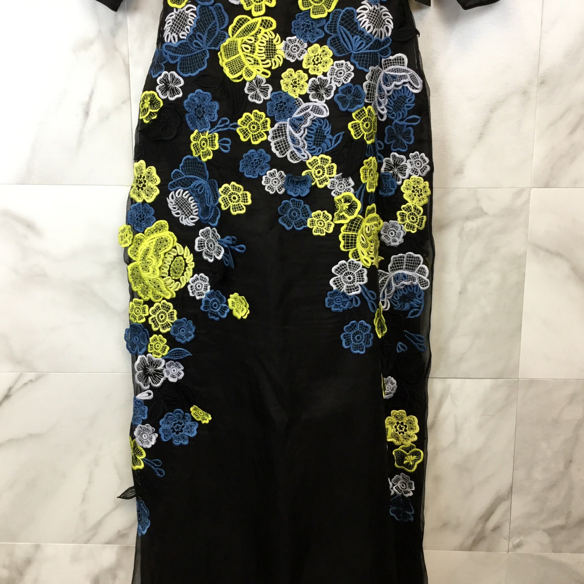 Erdem Carsani Embroidered Gown - size 8