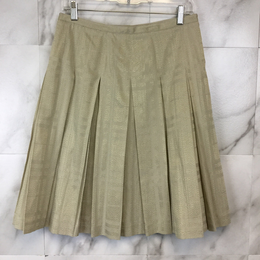 Burberry Metallic Pleated Skirt - size 4