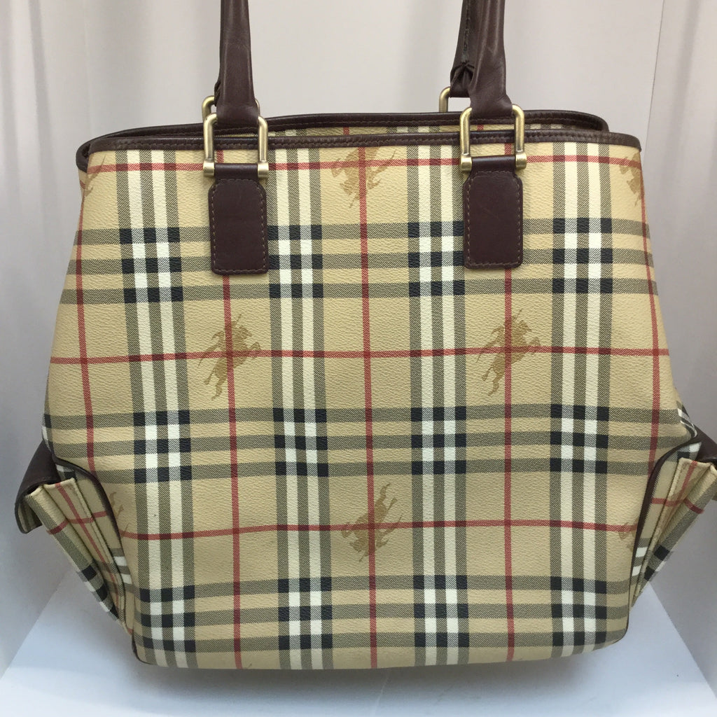 Burberry Haymarket Check Large Tote