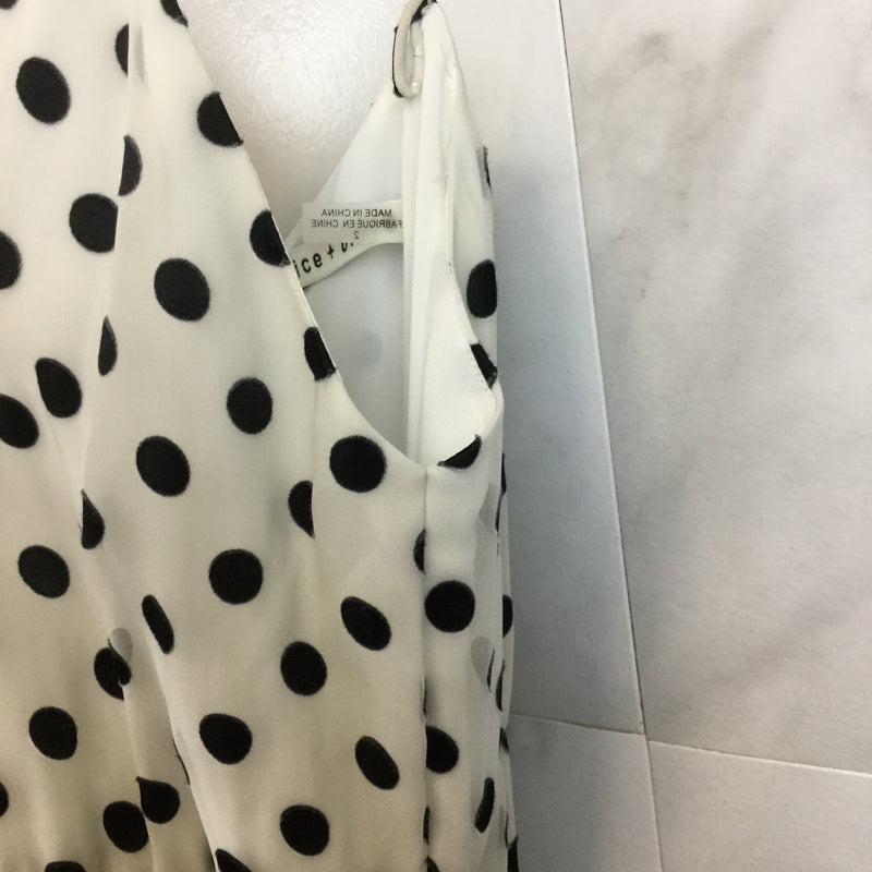 Alice + Olivia Mable Polka Dot Faux-Wrap Dress- size 2
