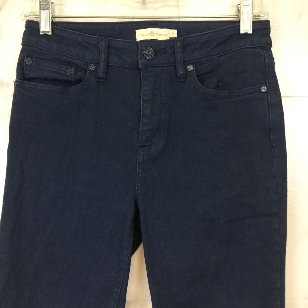 Tory Burch Medium Wash Straight Leg Jeans - size 26