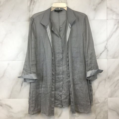 Anthropologie Maeve Button Down Ribbed Shirt- size M