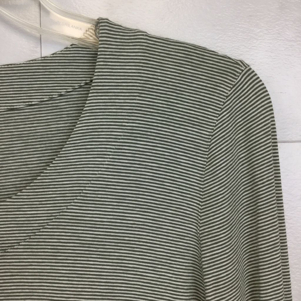 Akris Punto Striped 3/4 Sleeve Top - size 8