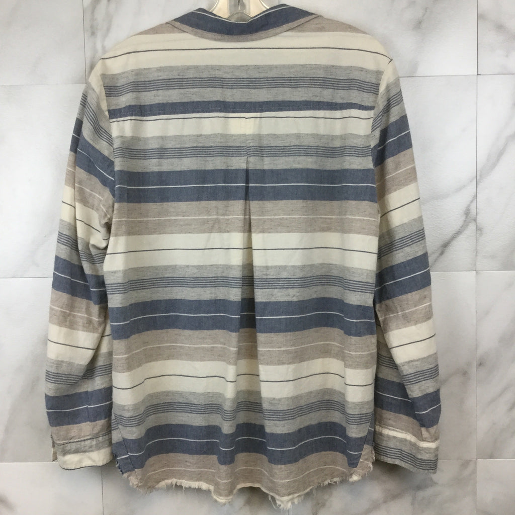 Anthropologie Cloth + Stone Striped Button Down Shirt- size XL