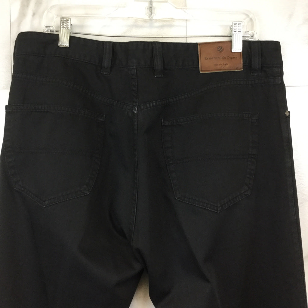 Men's Ermenegildo Zegna Black Denim Jeans- size 38