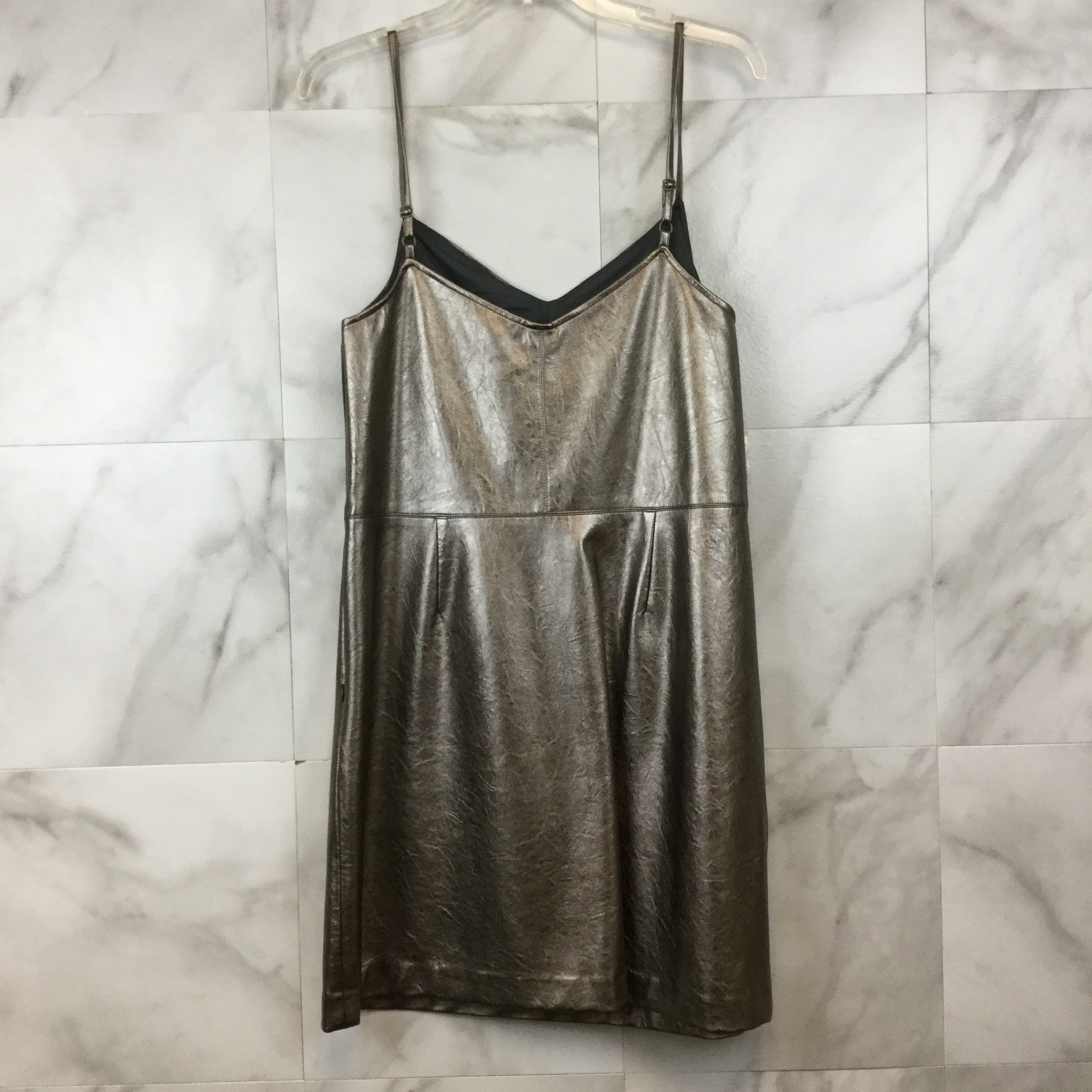 1.State Metallic Faux Leather Dress- size 8