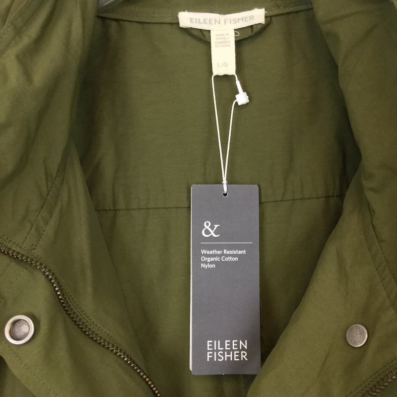 Eileen Fisher Stand Collar Jacket- size L