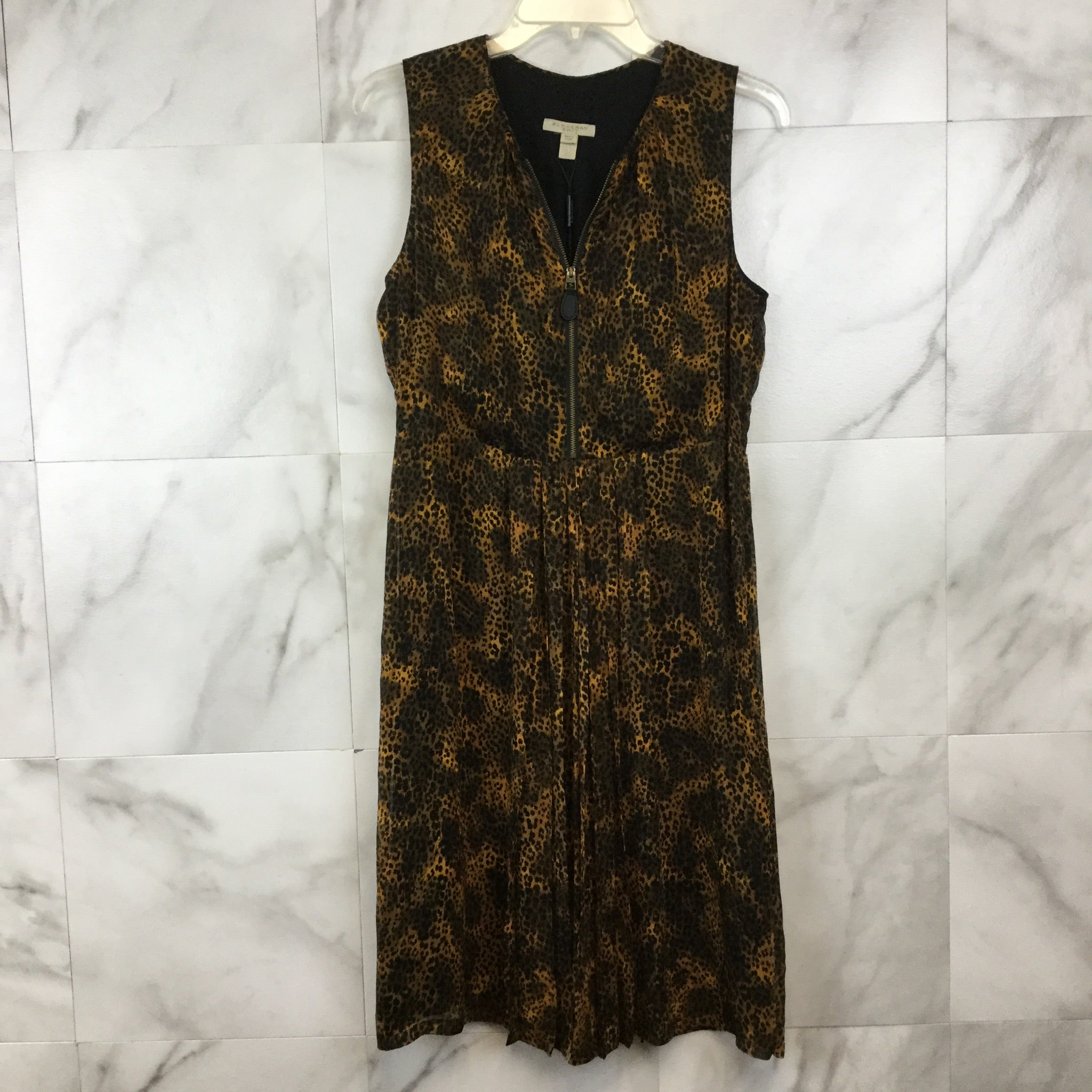 Burberry Brit Animal Print Crepon Dress - size 8