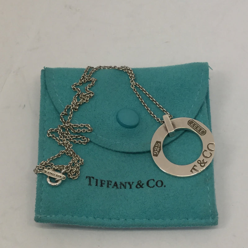 Tiffany & Co. Silver Circle Pendant Necklace