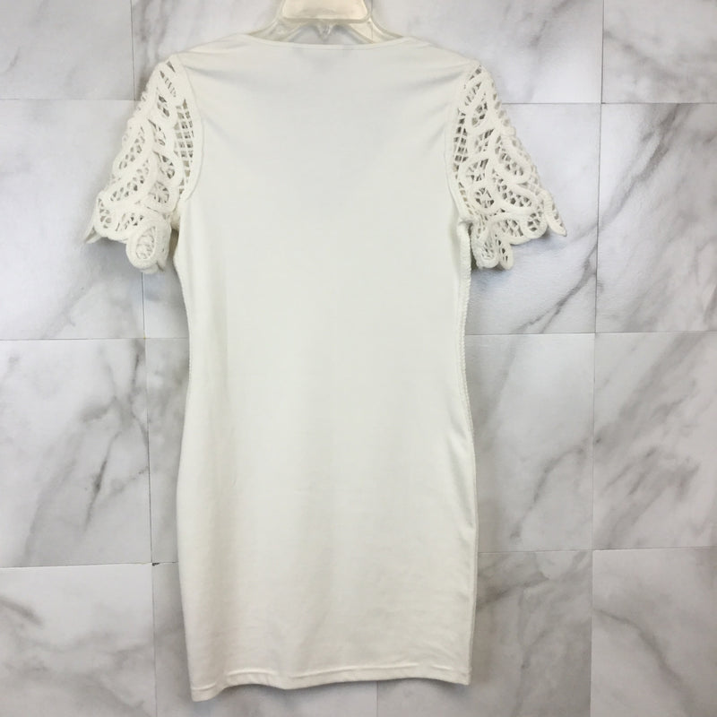 French Connection Macrame Jersey Dress - size 4