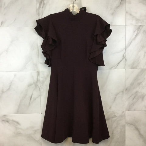 Milly Red Grace Flutter Sleeve Silk Cocktail Dress- size 8