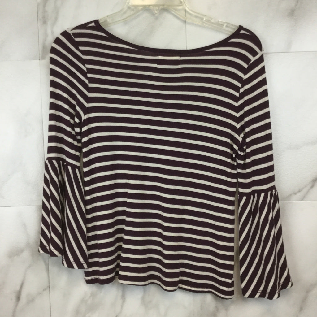Tucker + Tate Girls Striped Bell Sleeve Top- size L