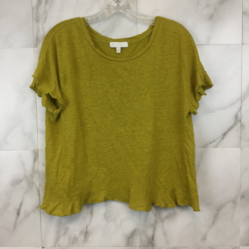 Anthropologie Eri+Ali Ruffled Cross-Back Top- size XS
