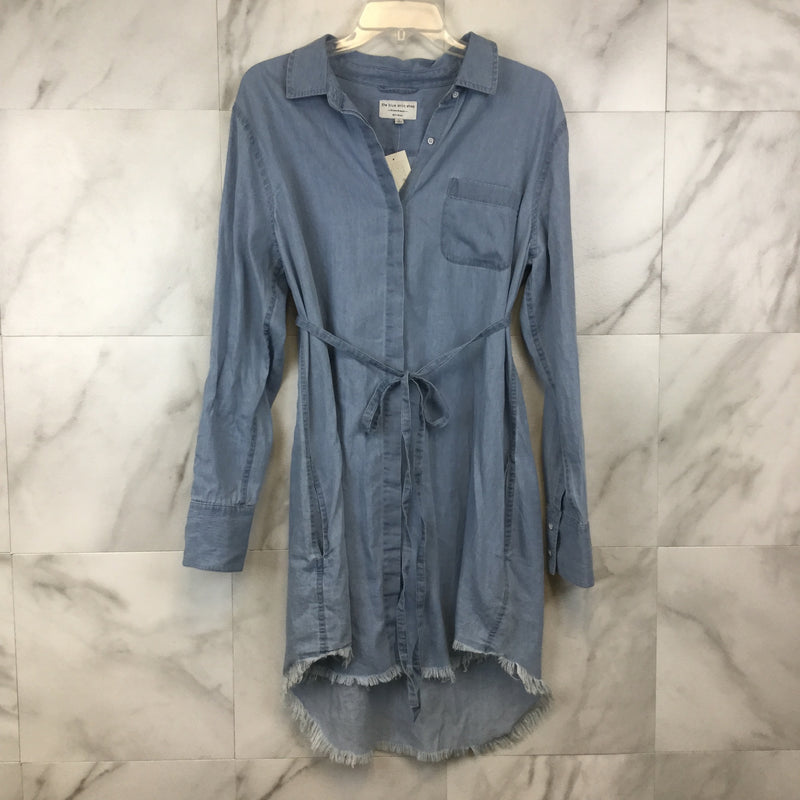 Prince & Mott Chambray Shirt Dress - L