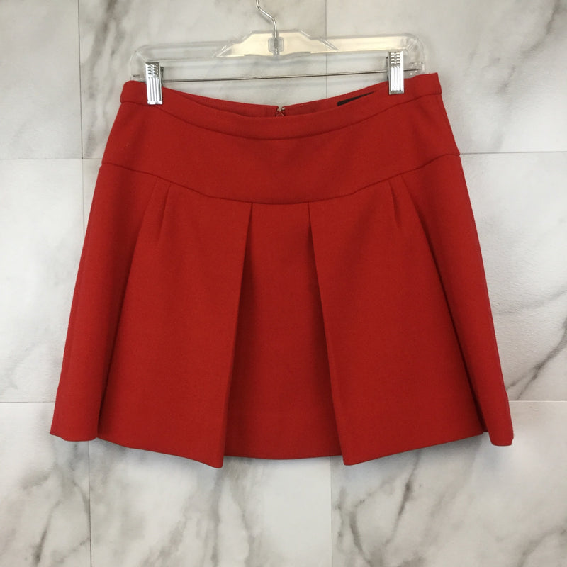 J. Crew Red Box Pleated Skirt- size 8