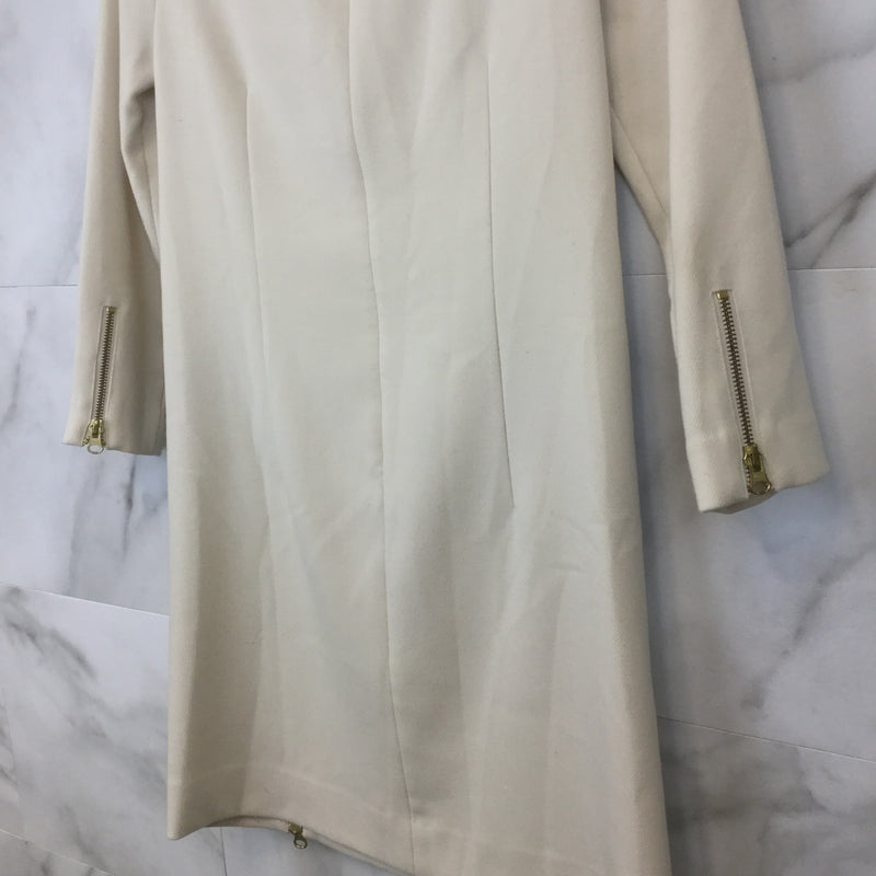 J. Crew Ivory Double Zipper Shift Dress- size 0