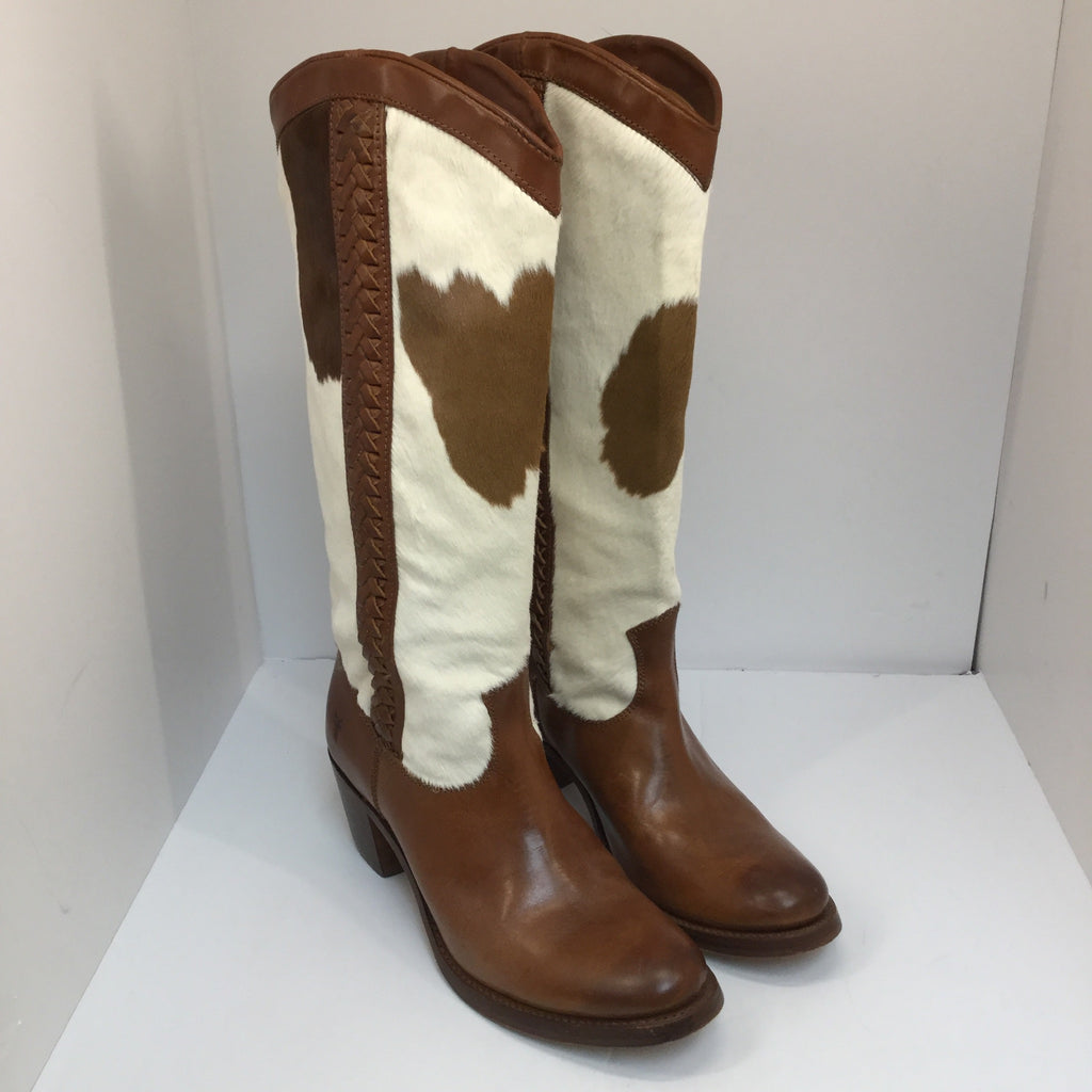 Frye Jane Braid Boots - size 8.5