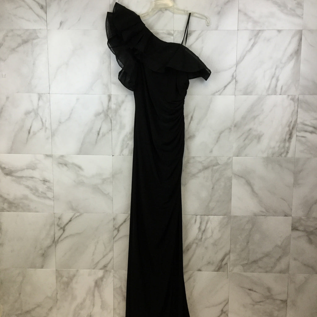 Adrianna Papell Ruffle One Shoulder Gown - size 6